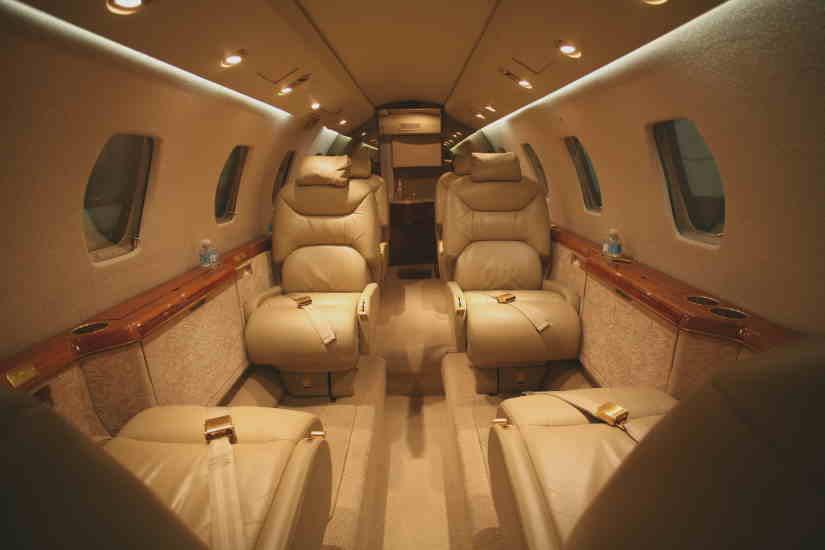 салон самолета Cessna Citation VI