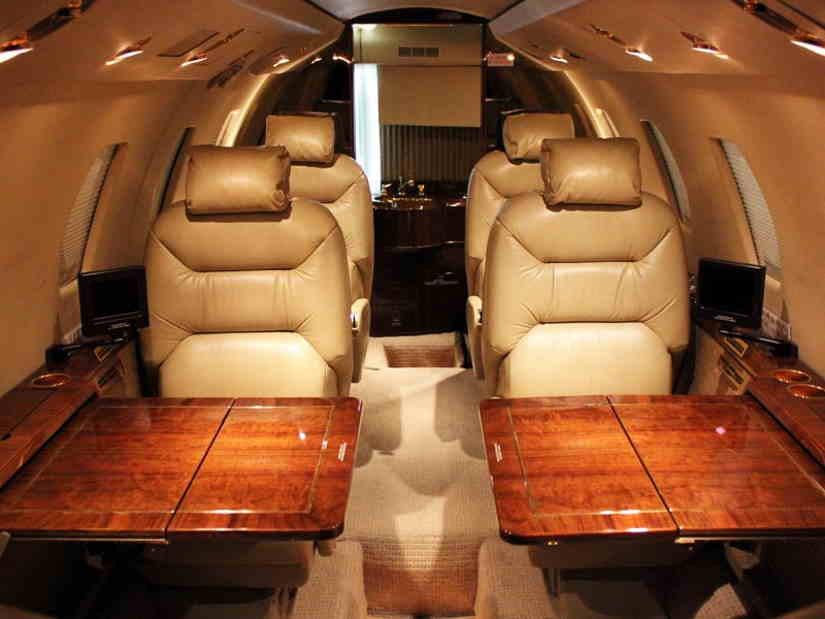 салон самолета Cessna Citation VII