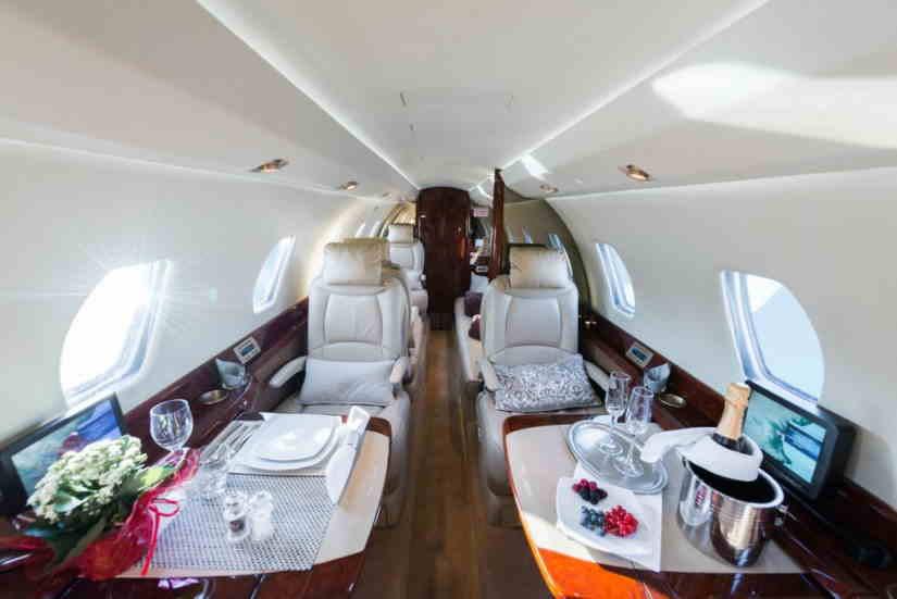 салон самолета Cessna Citation X