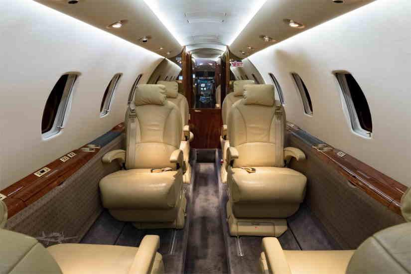салон самолета Cessna Citation XLS