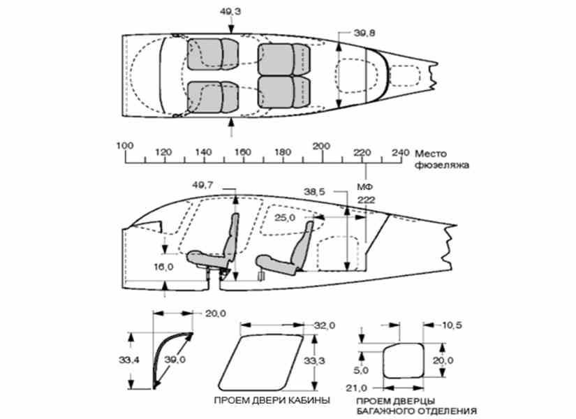 схема самолета Cirrus SR-22