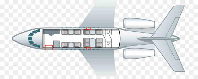схема самолета Dassault Falcon 20