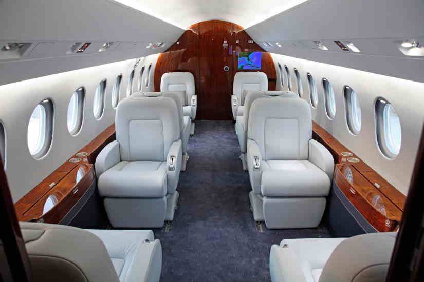 салон самолета Dassault Falcon 2000 EX