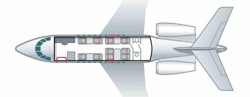 схема самолета Dassault Falcon 2000 LX