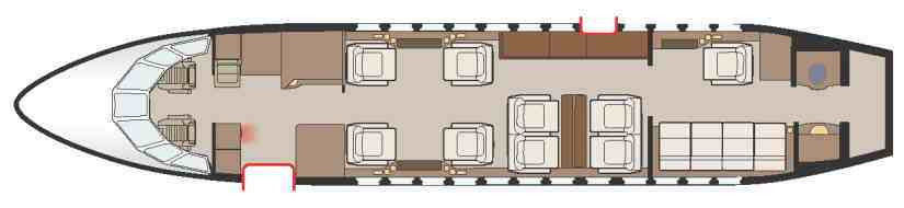 схема самолета Dassault Falcon 900