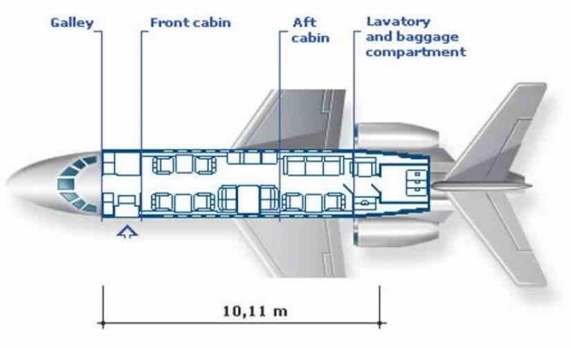 схема самолета Dassault Falcon 900 DX