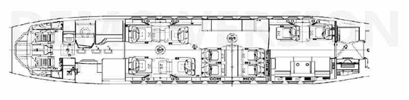 схема самолета Dassault Falcon 900 LX