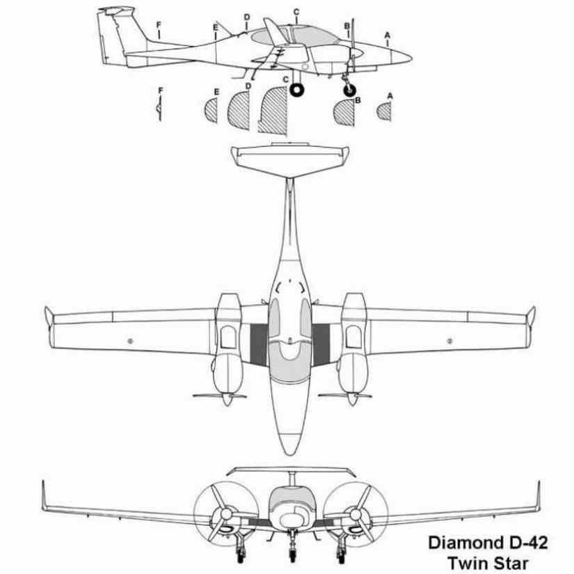 схема самолета Diamond DA42 Twinstar