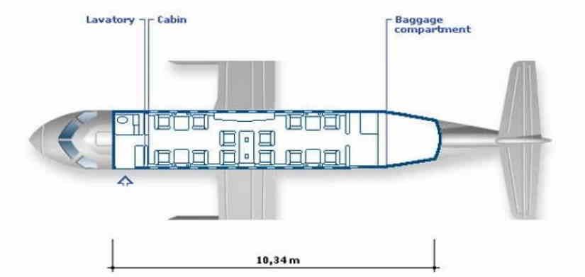 схема самолета Dornier 328Jet