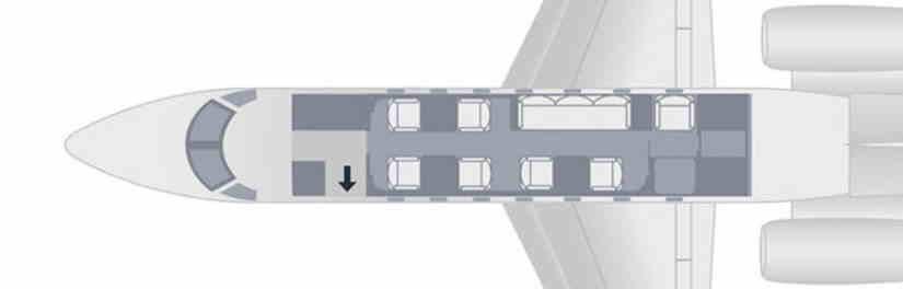 схема самолета Embraer Legacy 500