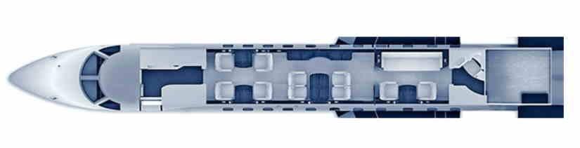 схема самолета Embraer Legacy 600