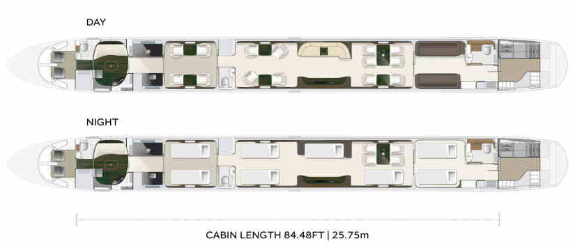 схема самолета Embraer Lineage 1000