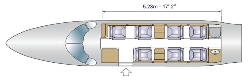 схема самолета Embraer Phenom 300