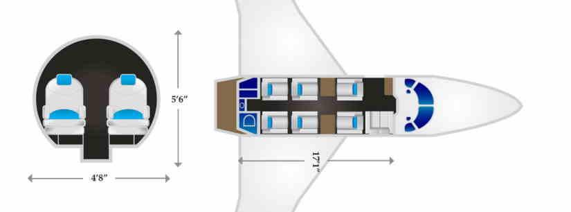 схема самолета Gulfstream G100
