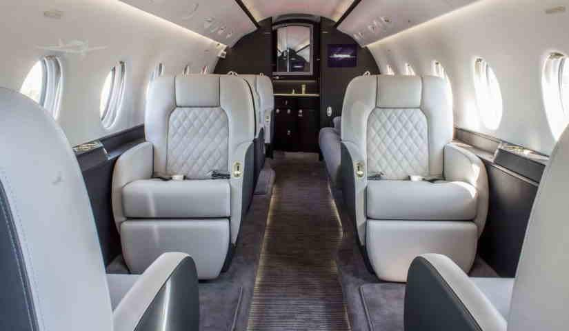 салон самолета Gulfstream G200
