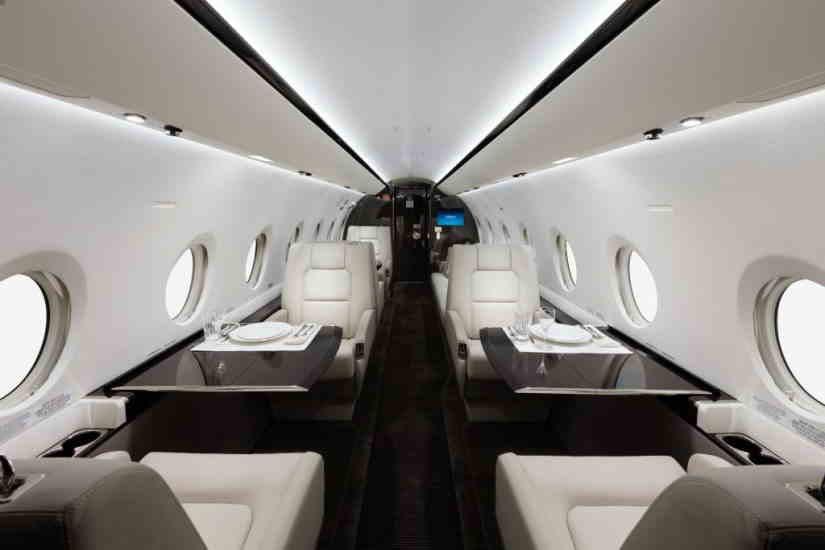 салон самолета Gulfstream G280