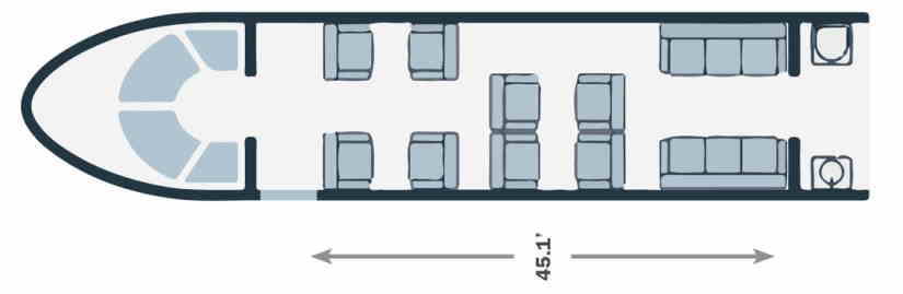 схема самолета Gulfstream G400