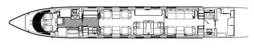 схема самолета Gulfstream G450