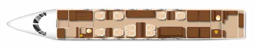 схема самолета Gulfstream G550