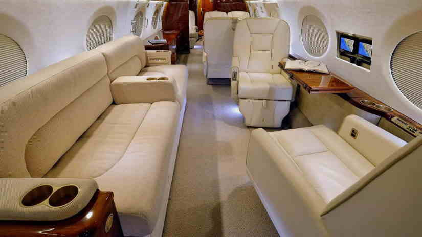 салон самолета Gulfstream G550