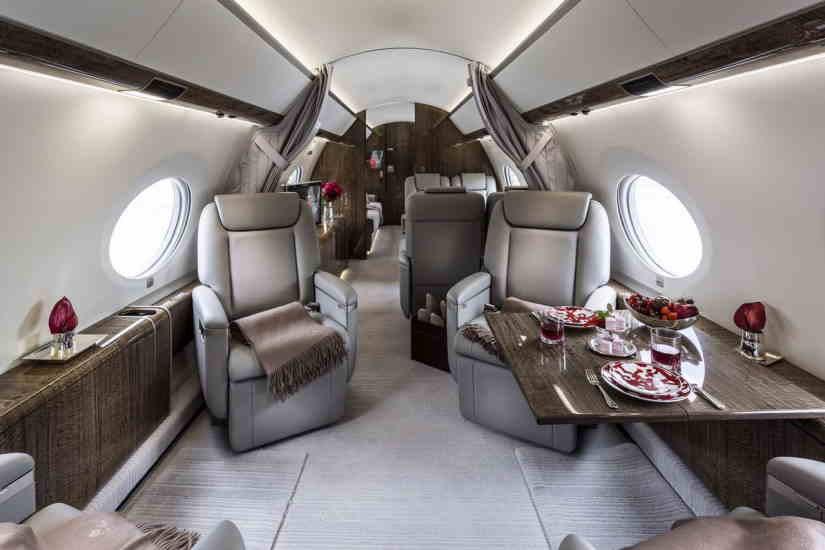 салон самолета Gulfstream G650