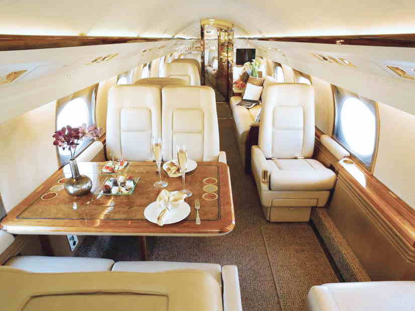 салон самолета Gulfstream GIV