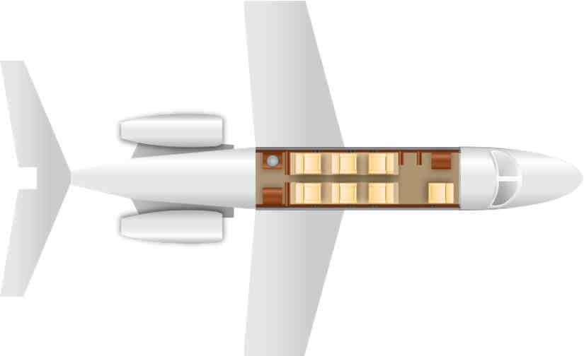 схема самолета Gulfstream II