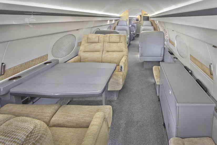салон самолета Gulfstream IISP