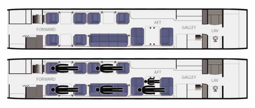 схема самолета Gulfstream IVSP