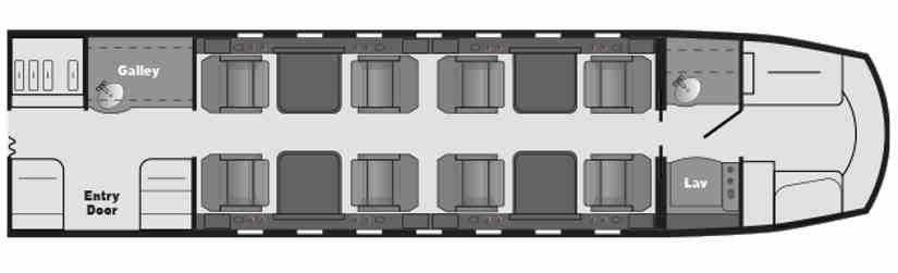 схема самолета Hawker Horizon