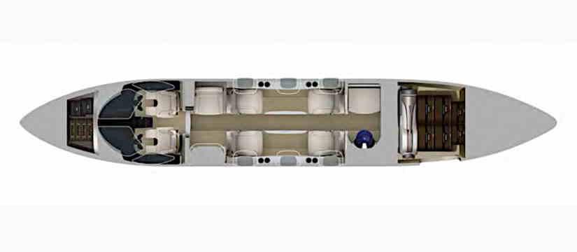 схема самолета HondaJet HA-420