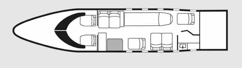 схема самолета Learjet 25