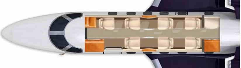 схема самолета Learjet 40 XR