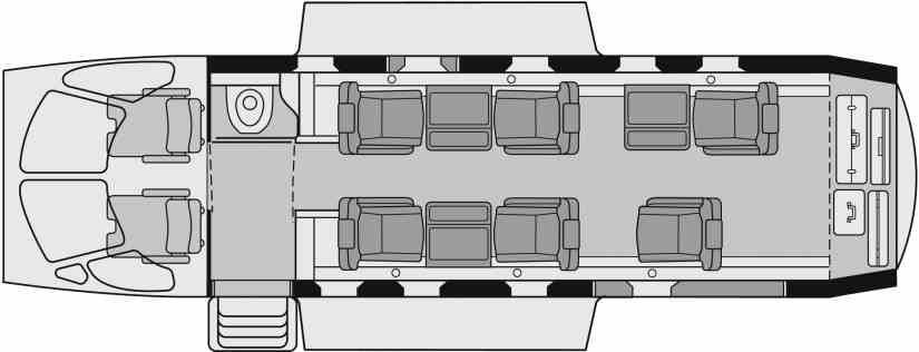 схема самолета Pilatus PC-12