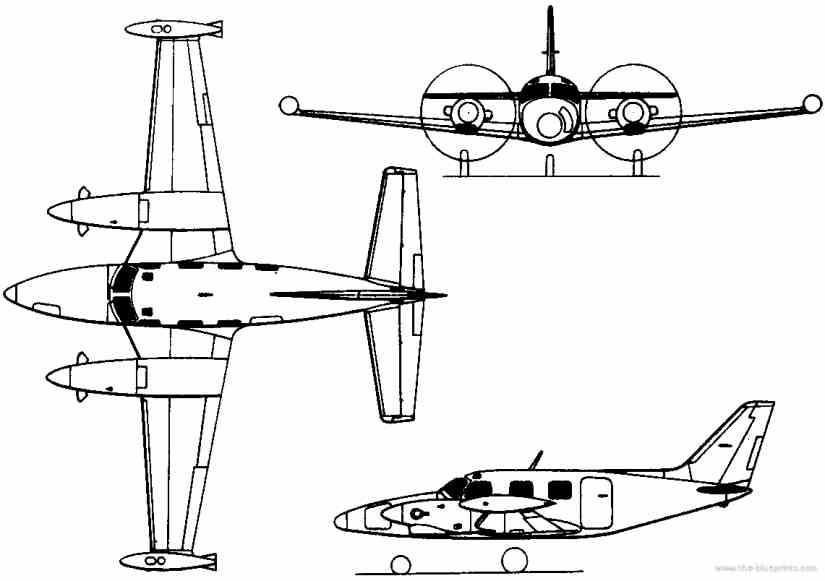 схема самолета Piper Cheyenne