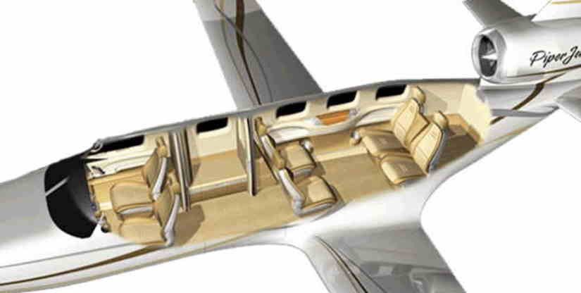 схема самолета Piper PA-47 PiperJet