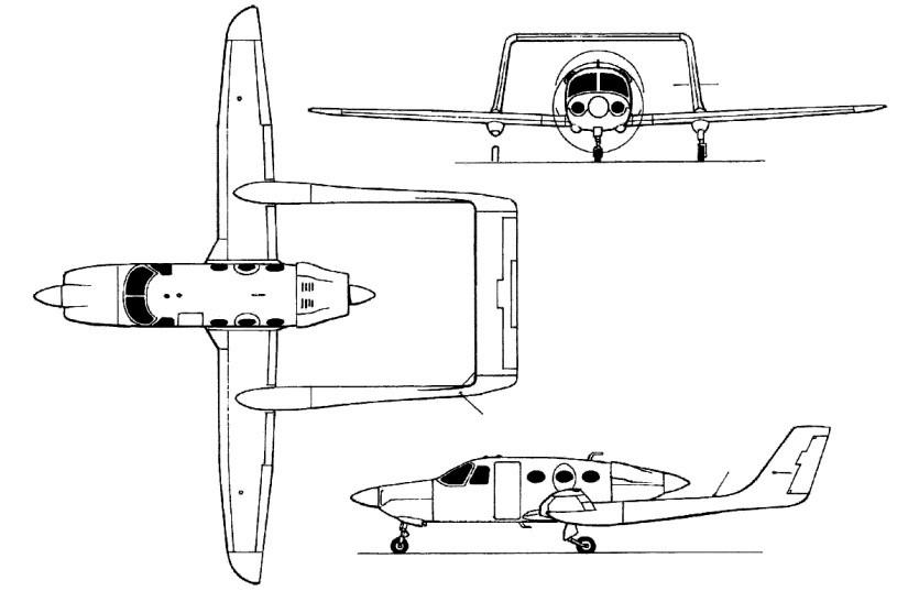 схема самолета AdamJet A500