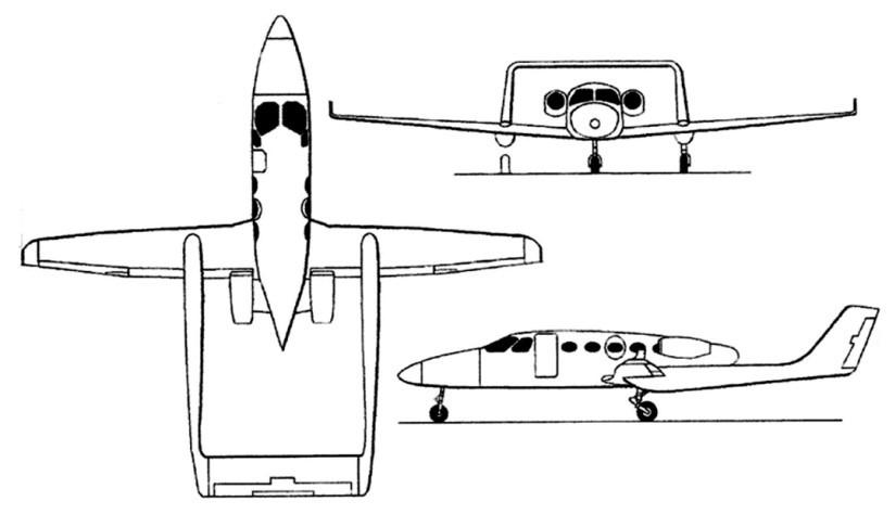 схема самолета AdamJet A700