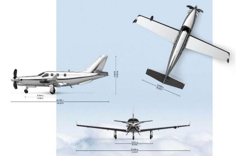 схема самолета Daher Socata TBM 940