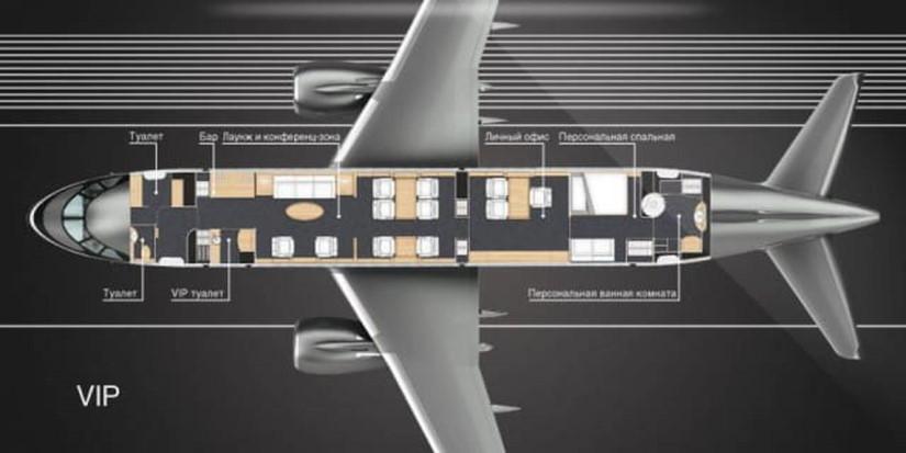 схема самолета Sukhoi Business Jet