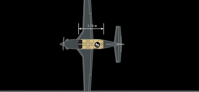 схема самолета Piper М500