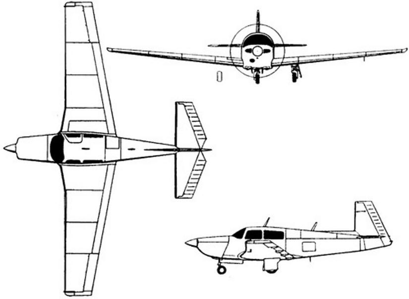 схема самолета Mooney M20V