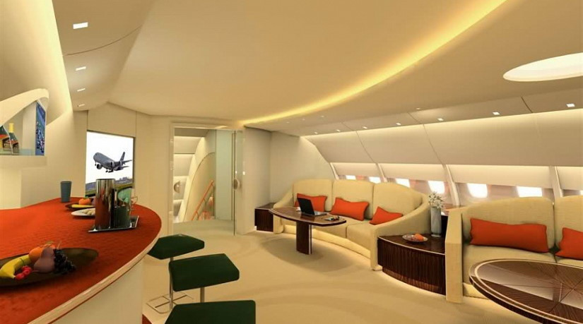 салон самолета Airbus ACJ380