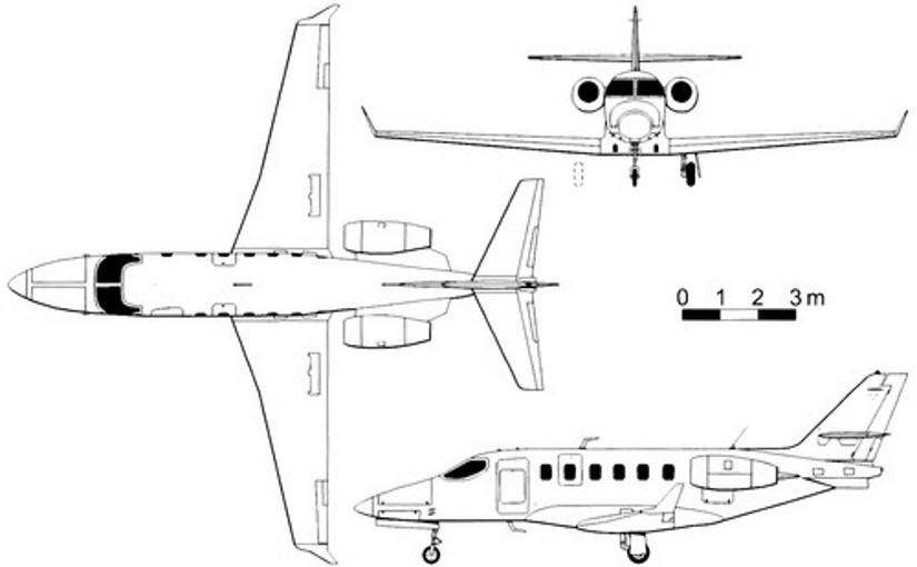 схема самолета Grob G180 SPn