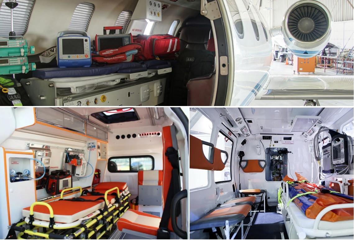 медицинский самолет для перелета лежачего больного