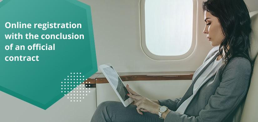 online registration of a private flight