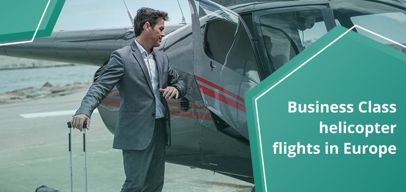 business jets and helicopters