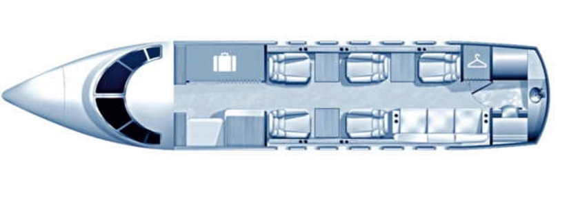 схема самолета Beechcraft Hawker 750