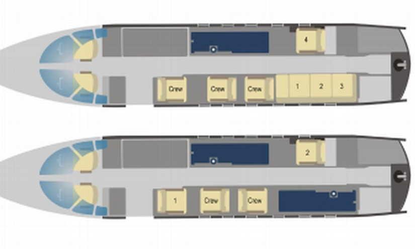 схема самолета Beechcraft Hawker 800 XP