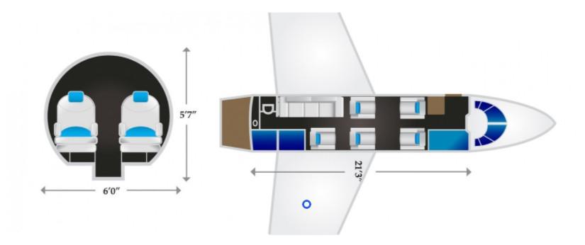 схема самолета Beechcraft Hawker 850 XP